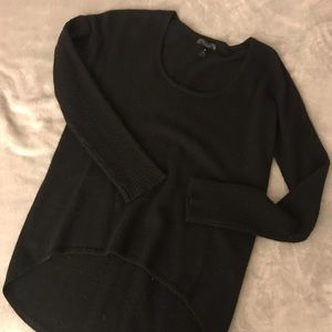 Aqua Cashmere Ribbed Sleeve Pullover